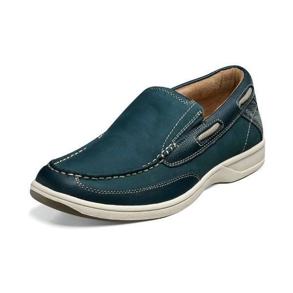 MEN'S LAKESIDE SLIP-ON NAVY NUBUCK CASUAL Thumbnail