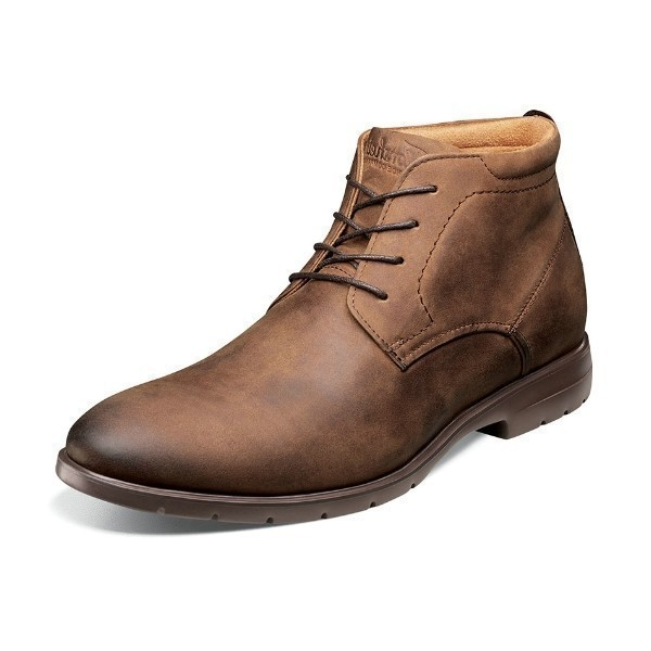 MEN'S WESTSIDE BROWN PLAIN TOE CHUKKA BOOT Thumbnail