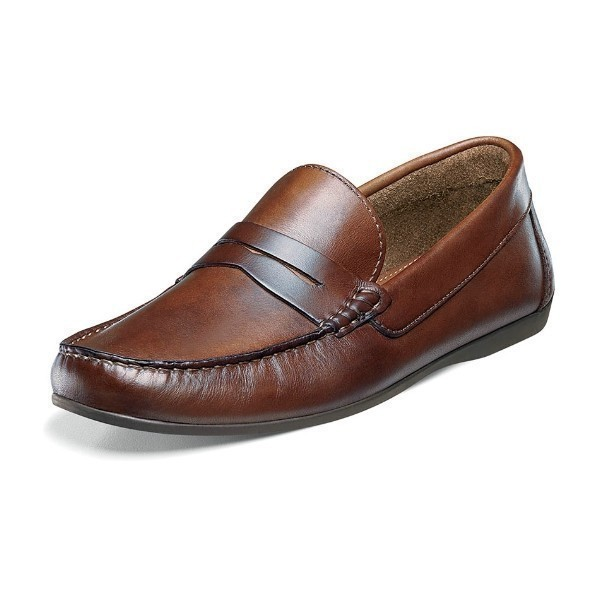 MEN'S JASPER PENNY BROWN LEATHER SLIP-ON Thumbnail
