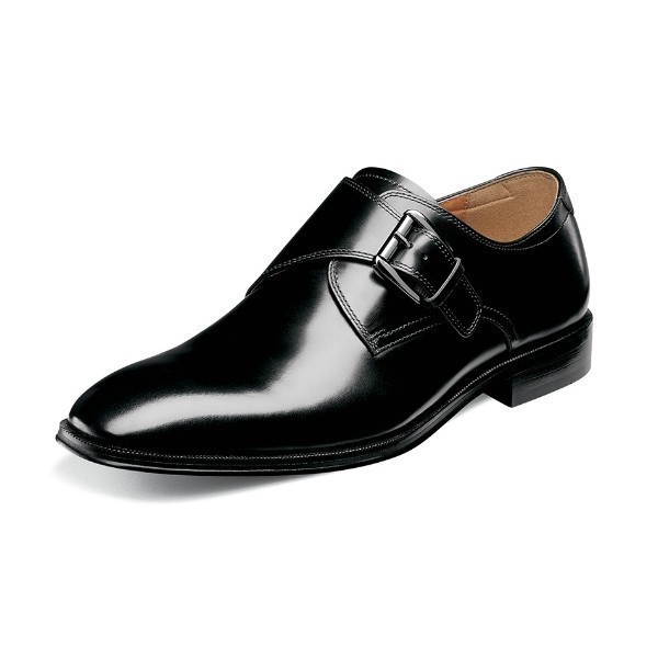 MEN'S BELFAST BLACK DRESS MONK STRAP Thumbnail
