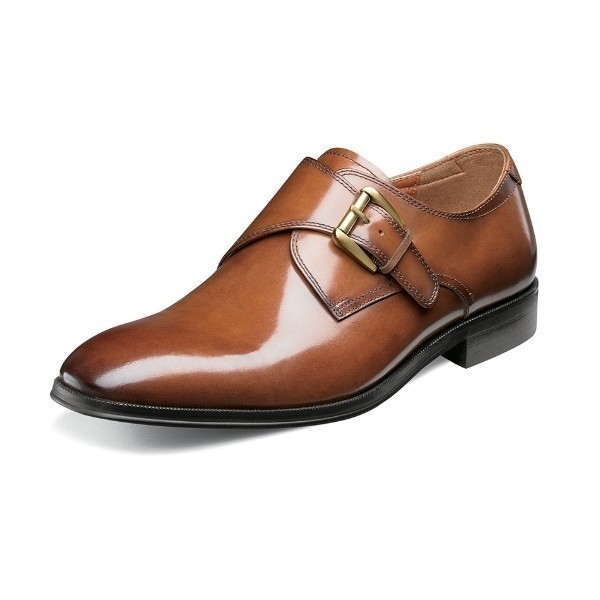 MEN'S BELFAST COGNAC DRESS MONK STRAP Thumbnail