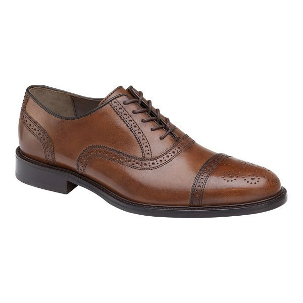 MEN'S DALEY CAP TOE TAN LEATHER DRESS LACE Thumbnail