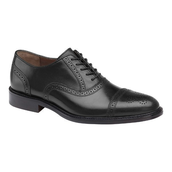 MEN'S DALEY CAP TOE BLACK LEATHER DRESS LACE Thumbnail