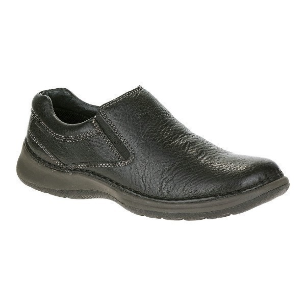 MEN'S LUNAR II BLACK LEATHER CASUAL SLIP-ON Thumbnail