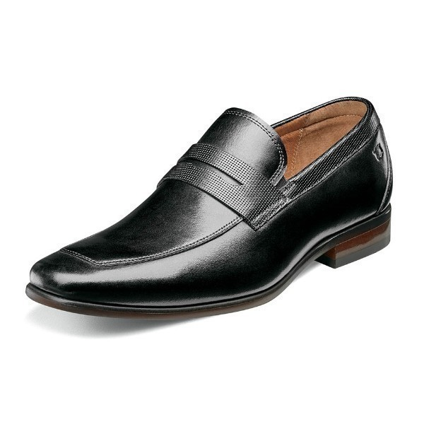 MEN'S POSTINO BLACK MOC TOE PENNY LOAFER Thumbnail