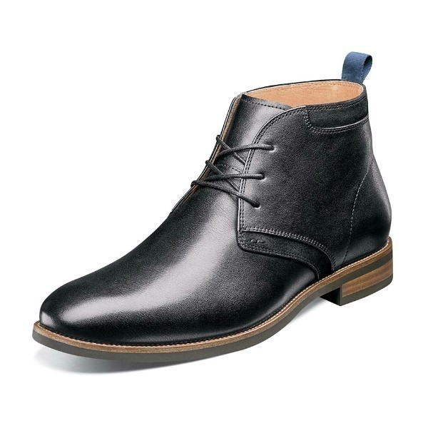 MEN'S UPTOWN BLACK PLAIN TOE CHUKKA BOOT Thumbnail