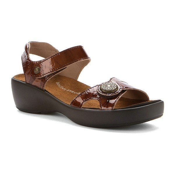 WOMEN'S ANDI BROWN METALLIC PATENT SANDAL Thumbnail