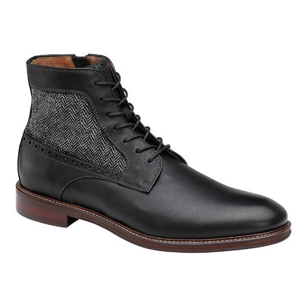 MEN'S WARNER BLACK PLAIN TOE LACE BOOT Thumbnail