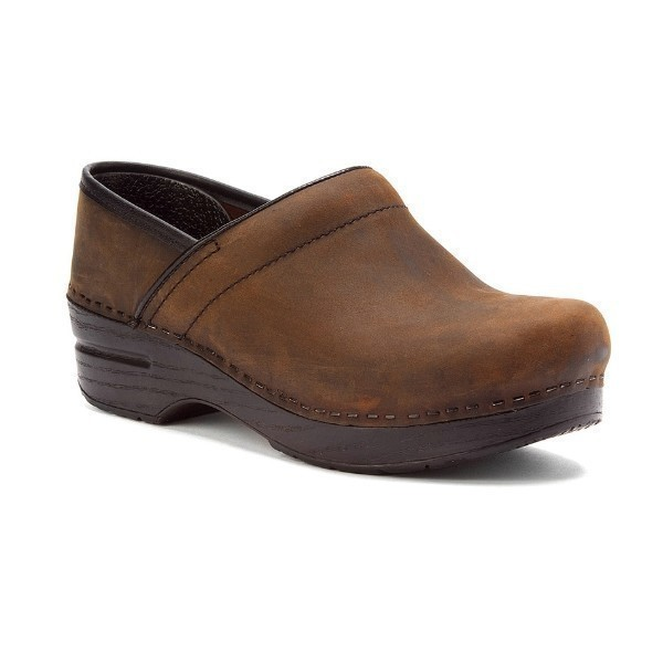 WOMEN'S PROFESSIONAL BROWN OILED CLOG Thumbnail