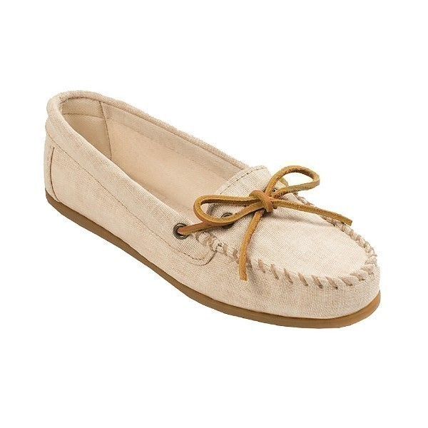 WOMEN'S CANVAS MOC NATURAL MOCCASIN Thumbnail