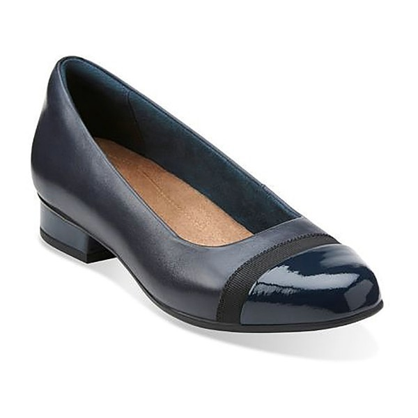 WOMEN'S KEESHA ROSA NAVY  LEATHER DRESS PUMP Thumbnail