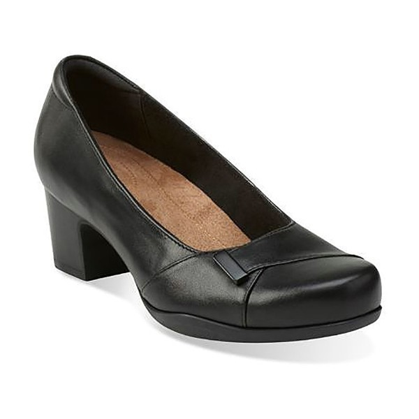 WOMEN'S ROSALYN BELLE BLACK LEATHER PUMP Thumbnail