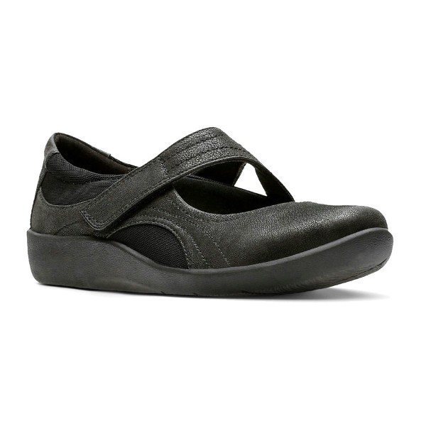 WOMEN'S SILLIAN BELLA BLACK BUC CASUAL SHOE Thumbnail
