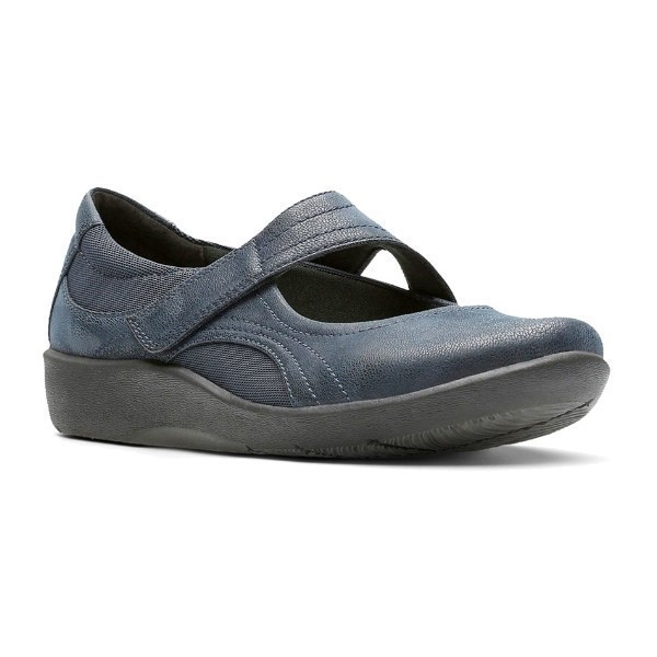 WOMEN'S SILLIAN BELLA NAVY BUC CASUAL SHOE Thumbnail