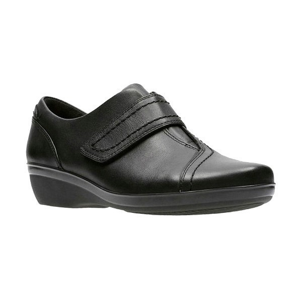 WOMEN'S EVERLAY DIXEY BLACK LEATHER SHOE Thumbnail
