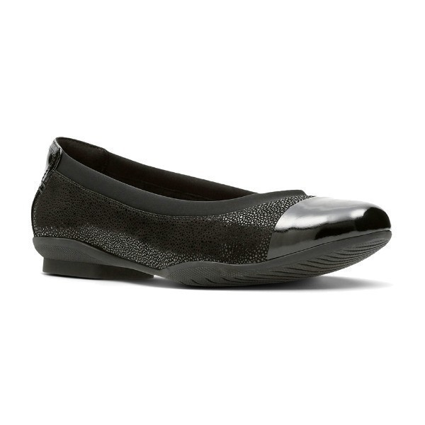WOMEN'S NEENAH GARDEN BLACK NUBUCK DRESS FLAT Thumbnail