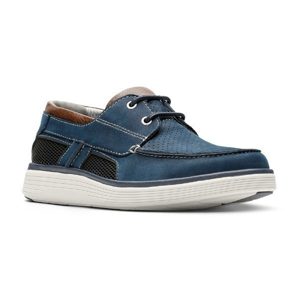 MEN'S UN.ADOBE STEP NAVY BOAT SHOE Thumbnail