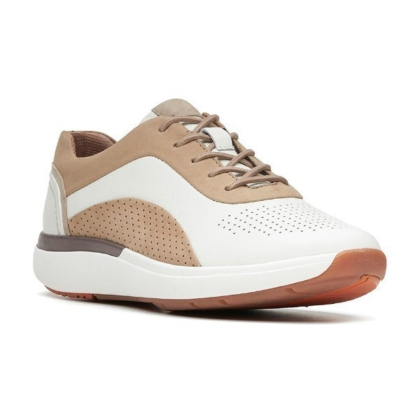 WOMEN'S UN.CRUISE LACE WHITE/SAND SNEAKER Thumbnail