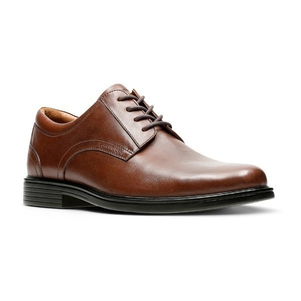 MEN'S UN.ALDRIC DK. TAN LEATHER DRESS LACE-UP Thumbnail
