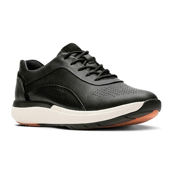 WOMEN'S UN.CRUISE LACE BLACK LEATHER SNEAKER Thumbnail