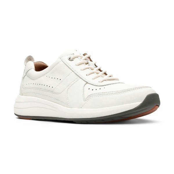 MEN'S UN.COAST FORM WHITE LEATHER CASUAL Thumbnail