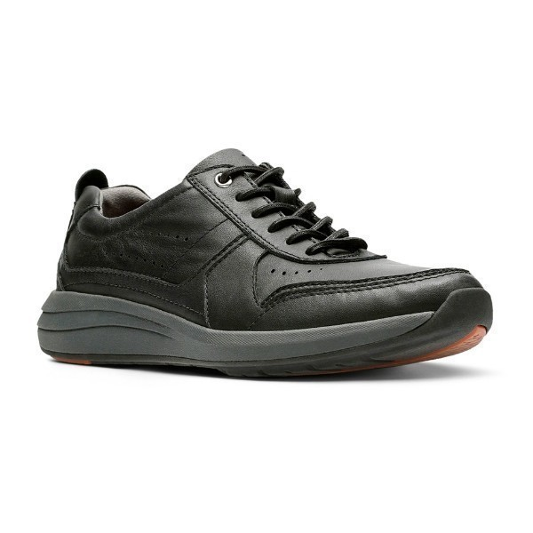 MEN'S UN.COAST FORM BLACK LEATHER CASUAL Thumbnail