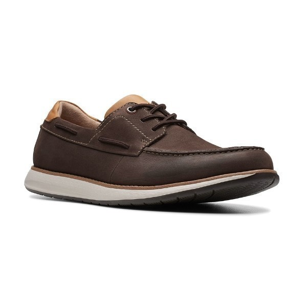 MEN'S UN.PILOT LACE BROWN NUBUCK BOAT SHOE Thumbnail