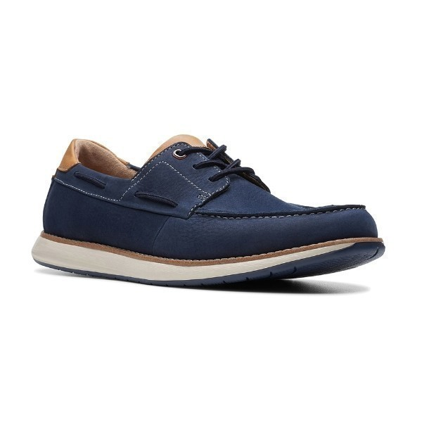 MEN'S UN.PILOT LACE NAVY NUBUCK BOAT SHOE Thumbnail