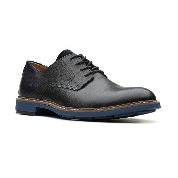 MEN'S UN.ELOTT LACE BLACK LEATHER DERBY SHOE Thumbnail