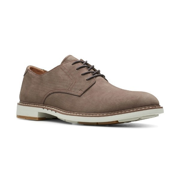 MEN'S UN.ELOTT LACE TAUPE NUBUCK DERBY SHOE Thumbnail
