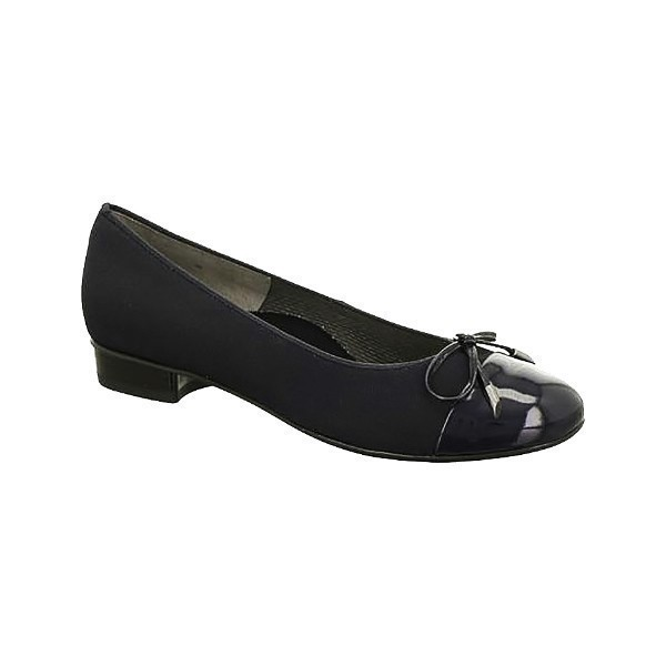 WOMEN'S BETTY BLACK FABRIC/PATENT DRESS SHOE Thumbnail