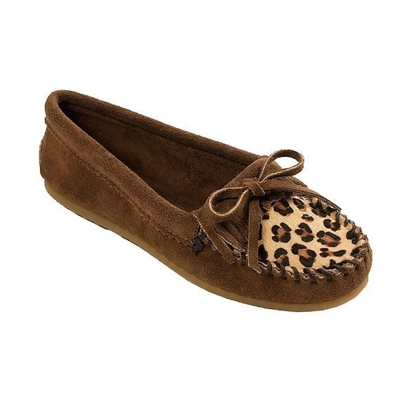 WOMEN'S LEOPARD KILTY DUSTY BROWN MOCCASIN Thumbnail