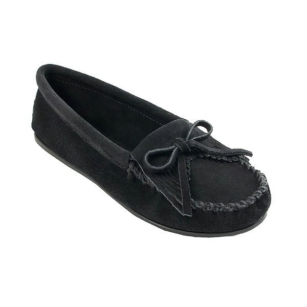 WOMEN'S KILTY HARDSOLE BLACK MOCCASIN Thumbnail