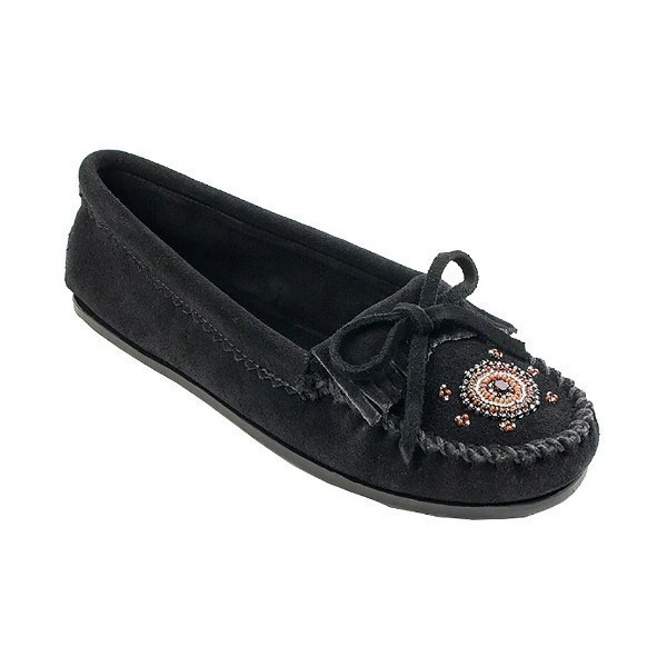 WOMEN'S MAASAI BLACK MOCCASIN Thumbnail