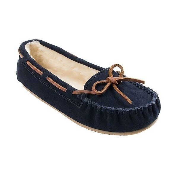WOMEN'S CALLY NAVY SUEDE SLIPPER Thumbnail
