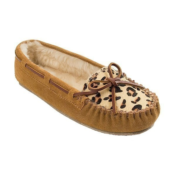 WOMEN'S LEOPARD CALLY CINNAMON SUEDE SLIPPER Thumbnail