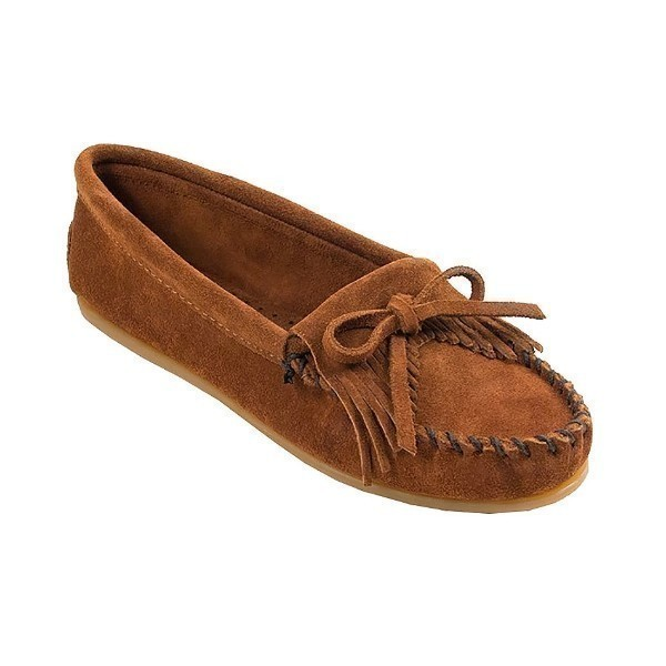 WOMEN'S KILTY HARDSOLE BROWN MOCCASIN (WIDE) Thumbnail