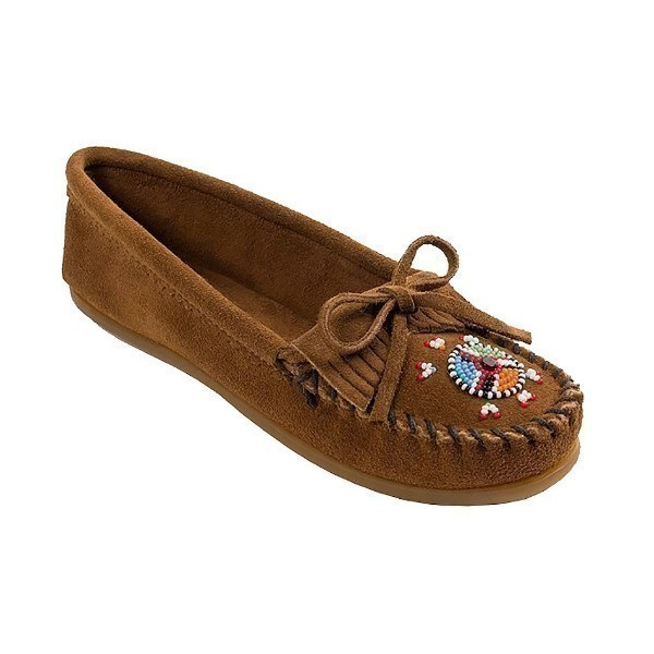 WOMEN'S MAASAI DUSTY BROWN MOCCASIN Thumbnail