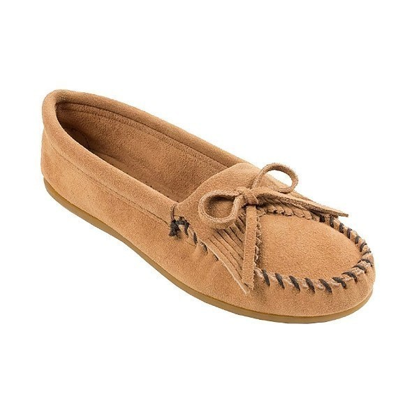 WOMEN'S KILTY HARDSOLE TAN MOCCASIN Thumbnail