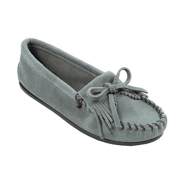 WOMEN'S KILTY HARDSOLE BLUE MOCCASIN Thumbnail