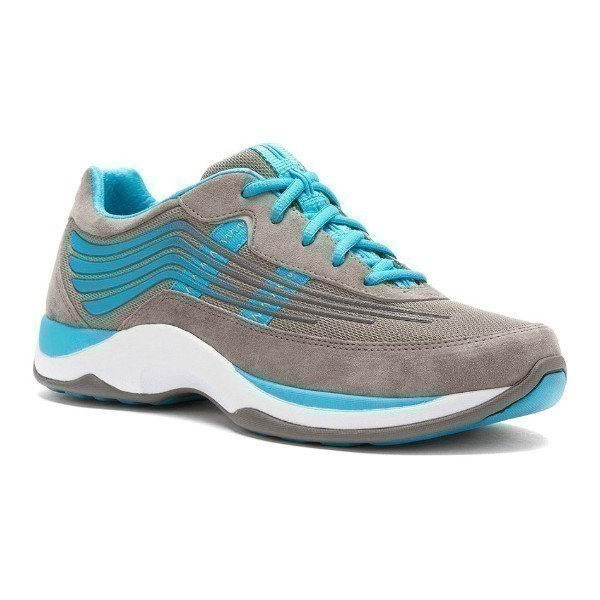 WOMEN'S SHAYLA GREY/AQUA SUEDE WALKER Thumbnail