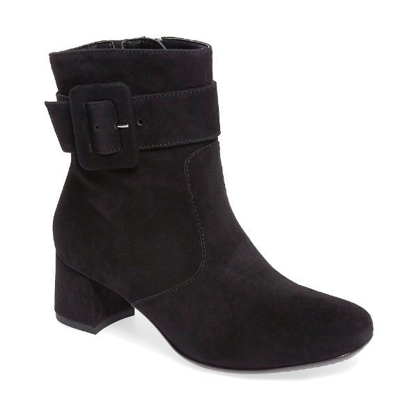 WOMEN'S CHARLIZE BLACK SUEDE DRESS BOOT Thumbnail