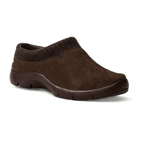WOMEN'S EMILY BROWN SUEDE CLOG Thumbnail