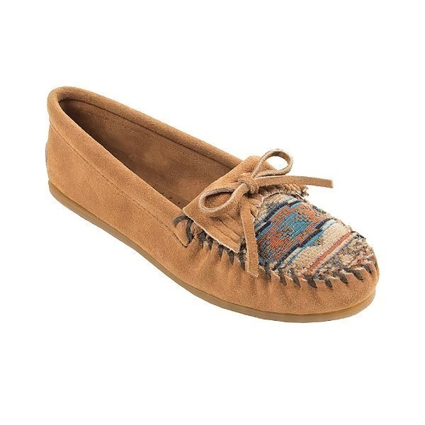 WOMEN'S EL PASO II TAUPE SUEDE MOCCASIN Thumbnail