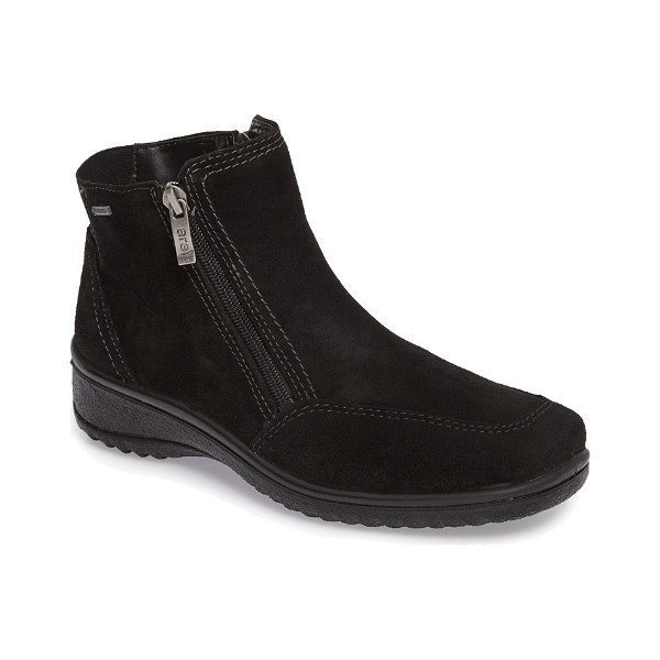 WOMEN'S MILA BLACK SUEDE SIDE-ZIP WINTER BOOT Thumbnail