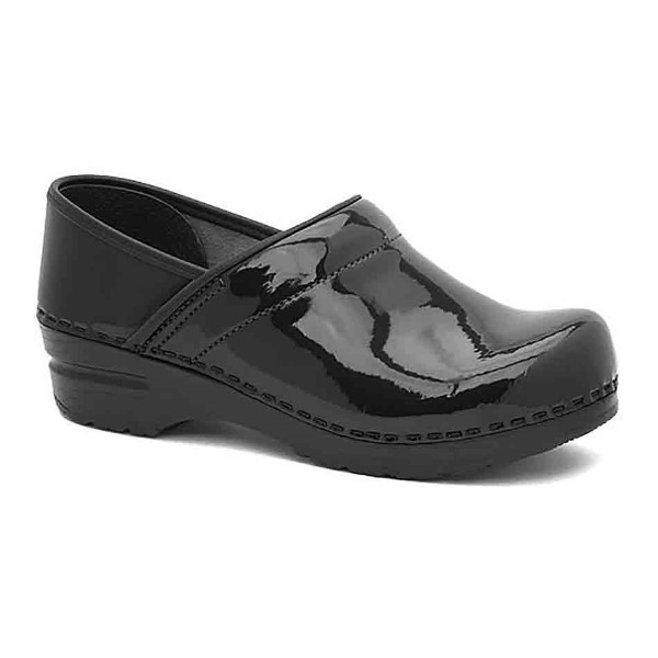 WOMEN'S WIDE PROFESSIONAL BLACK PATENT CLOG Thumbnail