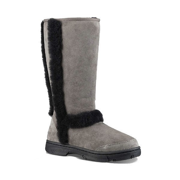 WOMEN'S SUNBURST TALL GREY/BLACK BOOT Thumbnail