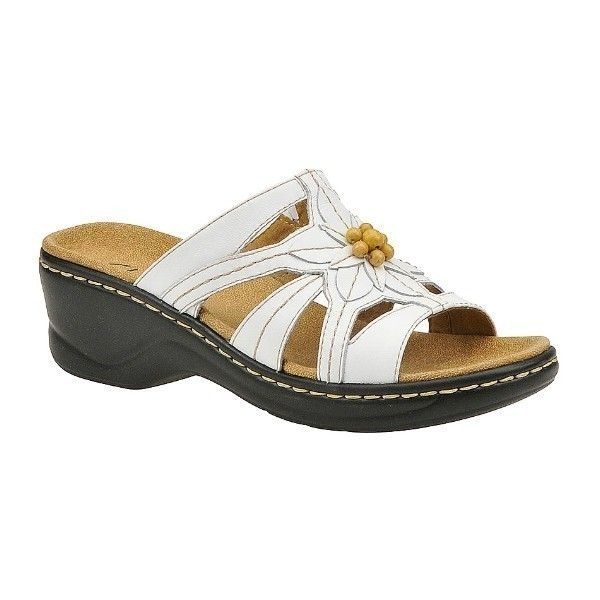 WOMEN'S LEXI MYRTLE WHITE LEATHER SANDAL Thumbnail
