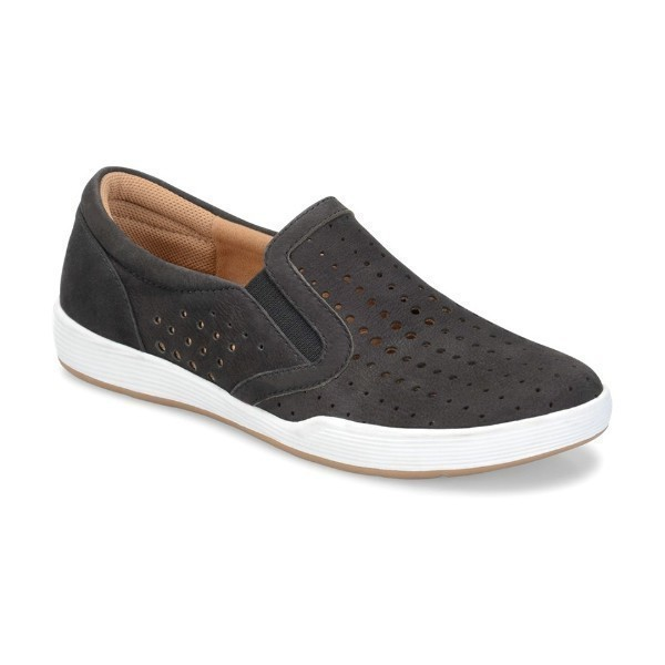 WOMEN'S LYRA BLACK NUBUCK SLIP-ON SNEAKER Thumbnail
