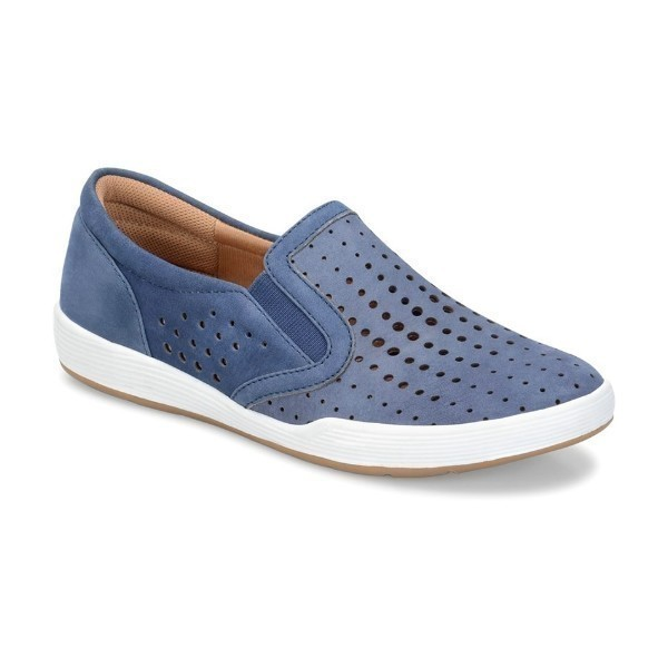WOMEN'S LYRA DENIM NUBUCK SLIP-ON SNEAKER Thumbnail
